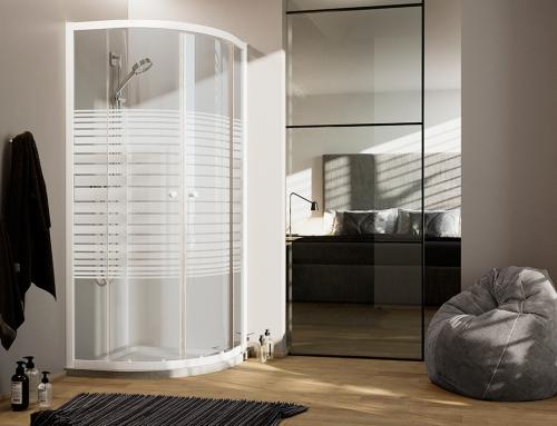Blanc Semicircolare – H185 vetro 4mm